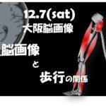 12.7(土)歩行障害の脳画像と治療のための機能解剖~画像から考える随意歩行・自動歩行の違いと治療展開~@大阪